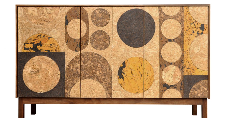 Cork mosaic sideboard by Iannone Design