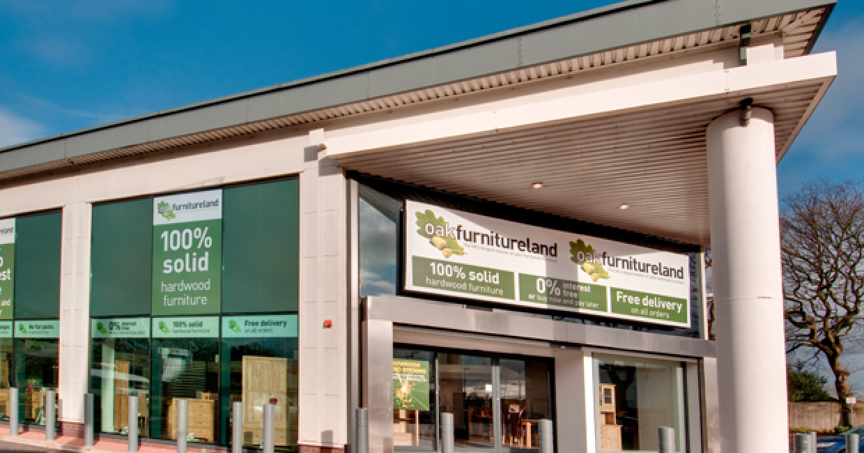 Oak Furniture Land's Solihull showroom