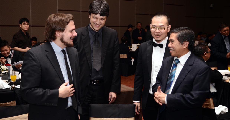 Paul Farley, Imre Zilahi, Casey Loo and YB Dr Jalaluddin Harun