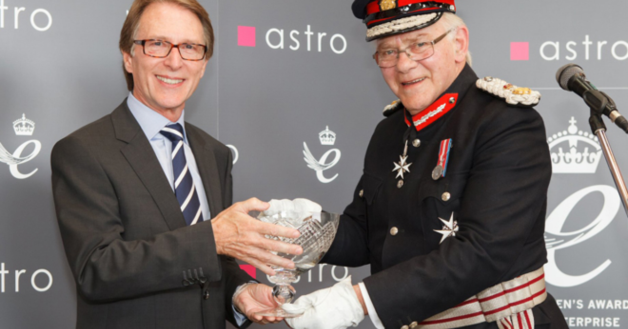 The Lord Lieutenant of Essex presents The Queen's Award to Astro MD John Fearon