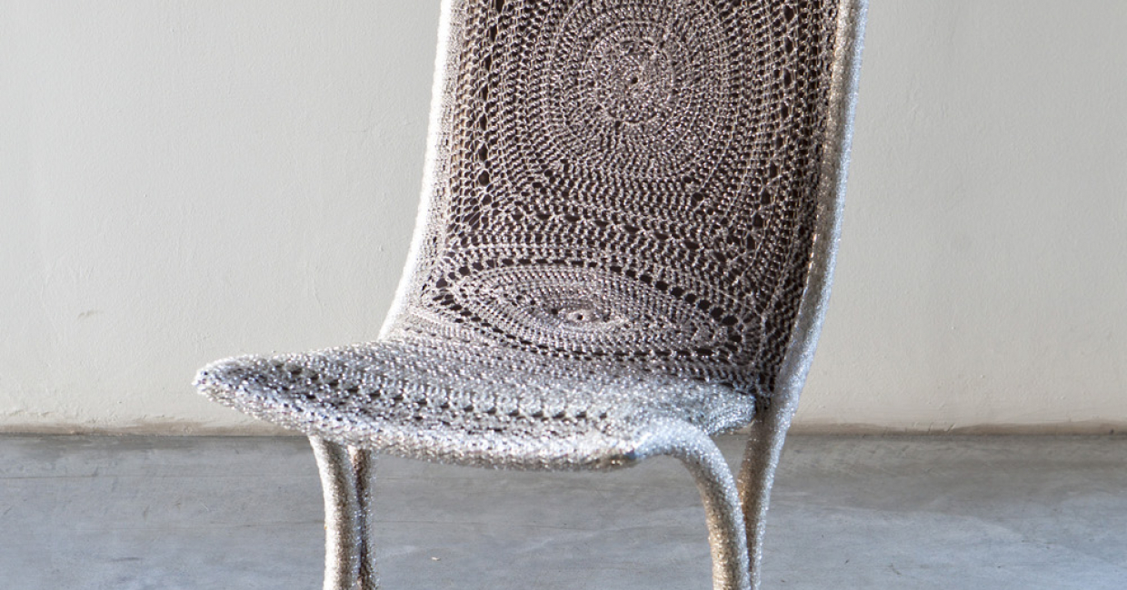 Crochet chair by Loredana Bonora