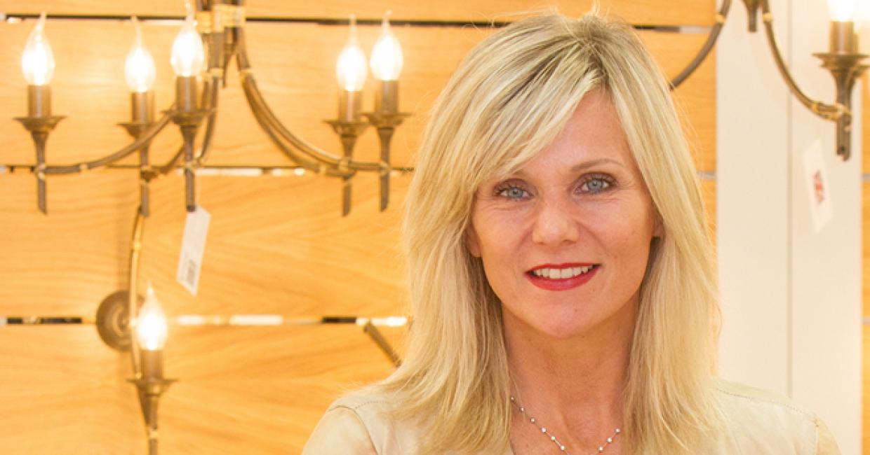 Linda Barker Opens New Elstead Lighting Showroom
