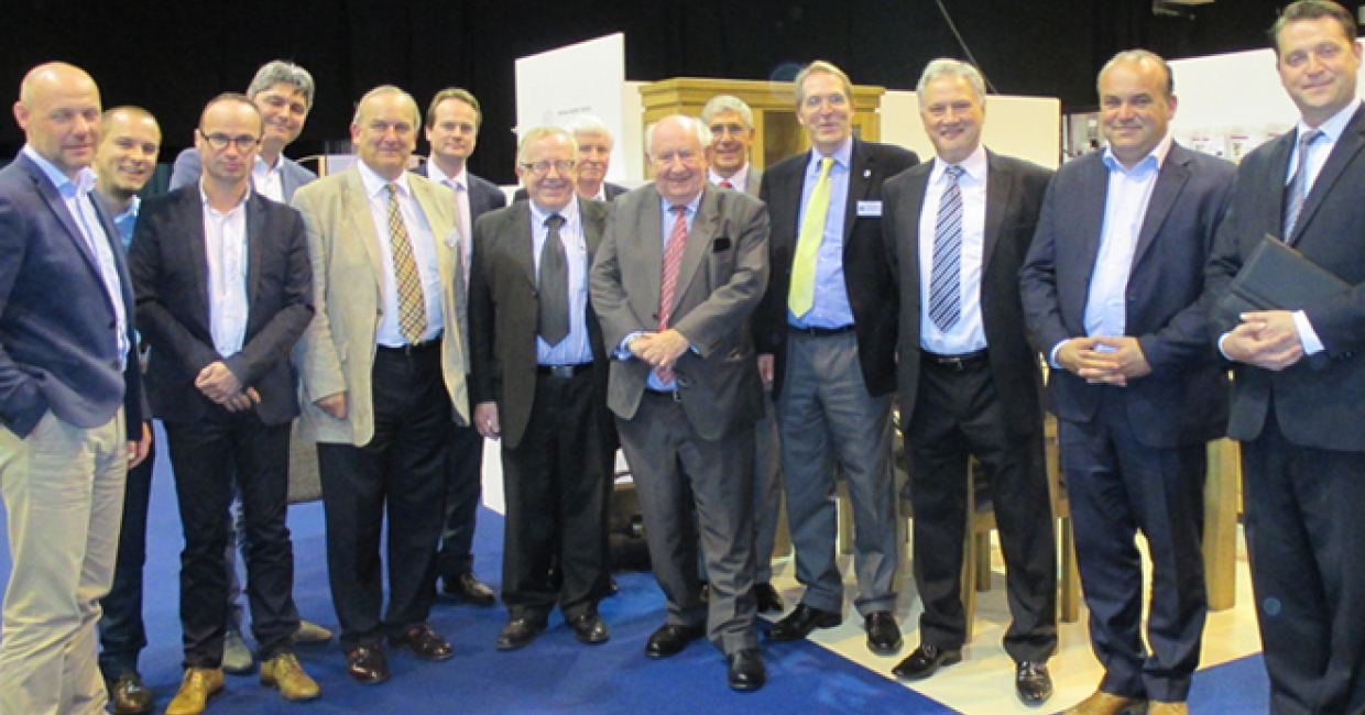 Belgian exhibitors at last month's Minerva exhibition in Telford, with the guild's directors