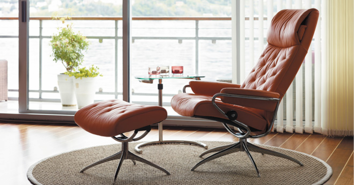 ekornes stressless paloma leather recliner chair large