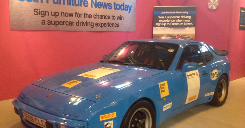 The Furniture News stand featured a Porsche track day car which garnered much attention