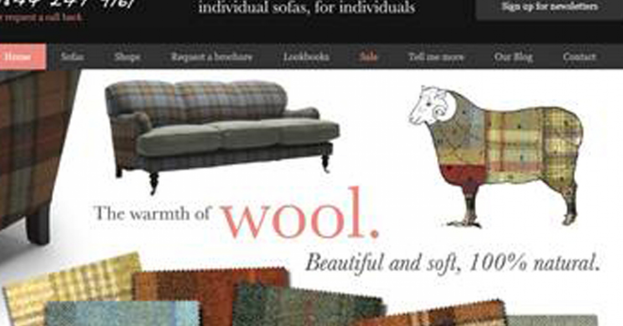 Made In Britain Upholstery Supplier Sofa Work Is Positioned As The Sixth Best Performing Website Uk Retail Top 500