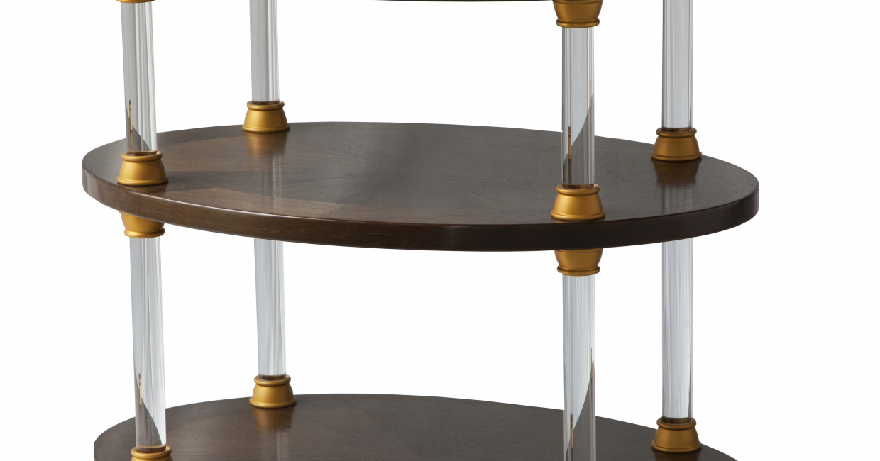 Acrylic tier table, Louis Henri