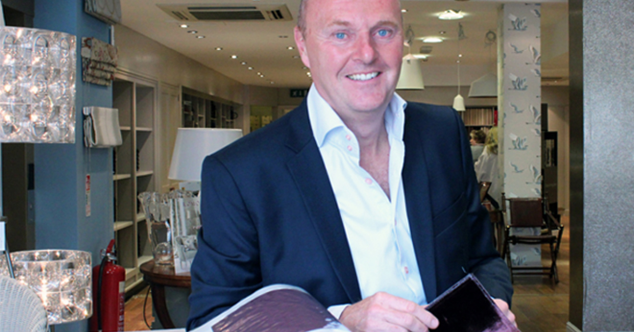 James Brindley MD Simon Grafton in the Harrogate store