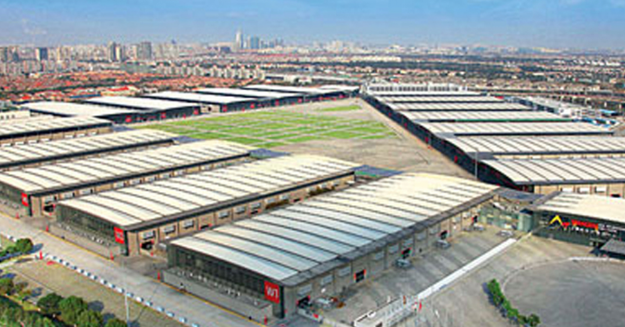 The Shanghai New International Expo Centre (SNIEC) in Pudong