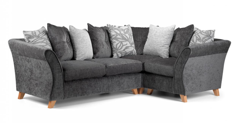 Zante grey corner sofa