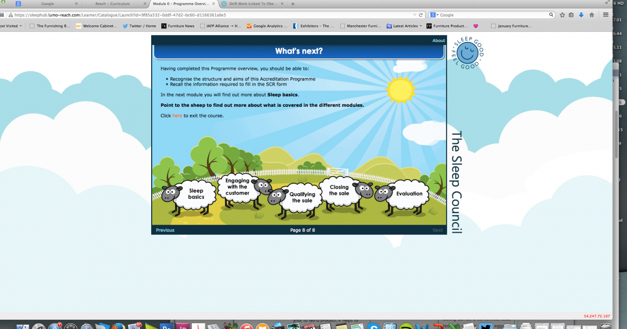 Counting sheep – the module outlines are regularly summarised