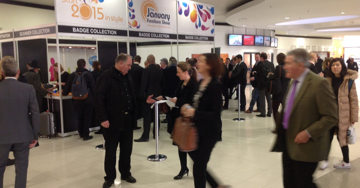 The January Furniture Show is already busy with retailers and buyers