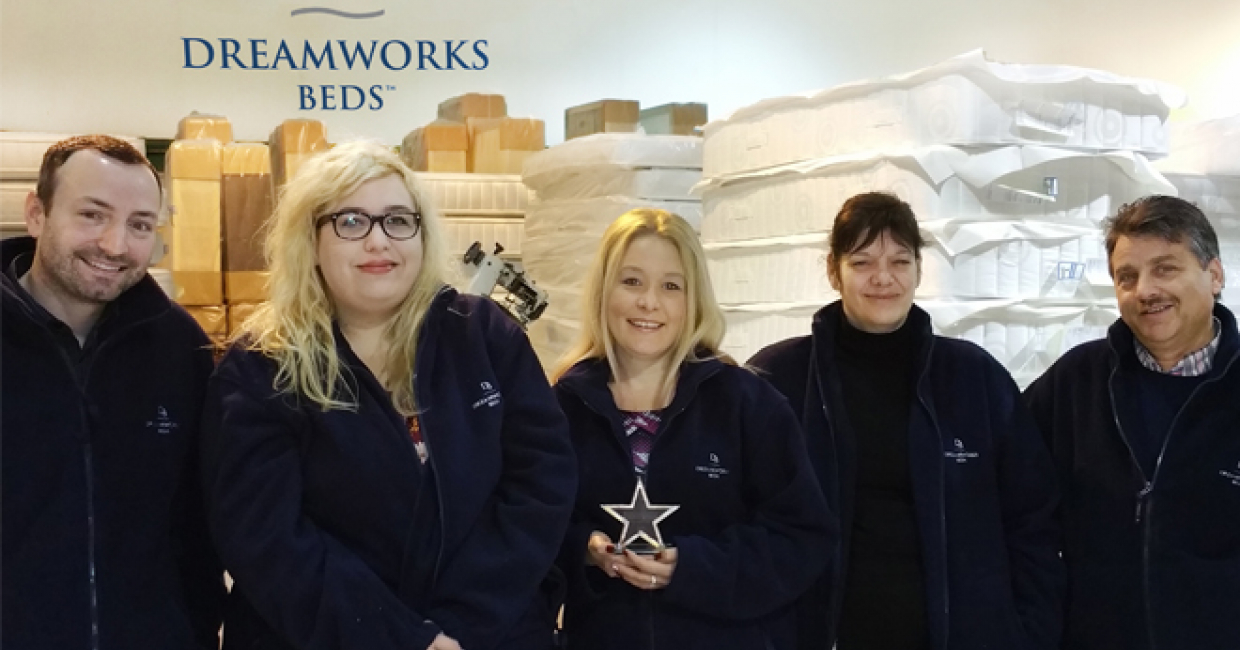 Some of the Dreamworks team with their AIS award – Paul, Sophie, Pam, Jo and Berni