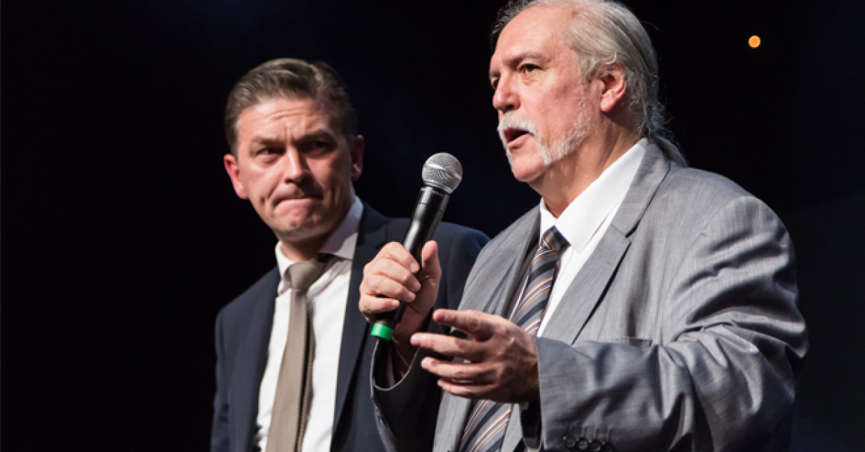 Espritmeuble president Gaétan Ménard with IAFP president Zeki Yucel