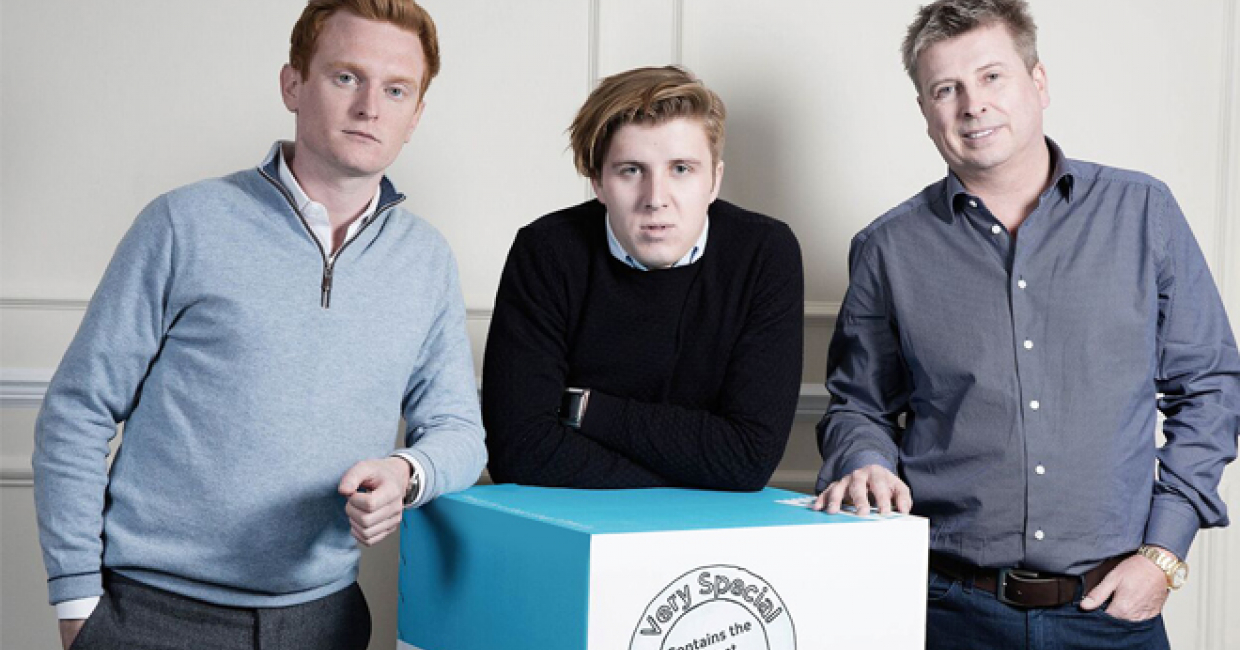 Simba co-founders James Cox, Harry McClements and Andrew McClements