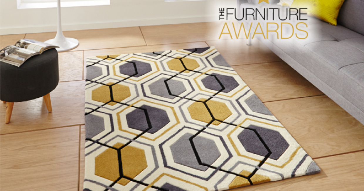 The bright, modern winner of the Value Category, Think Rugs' Hong Kong 7526