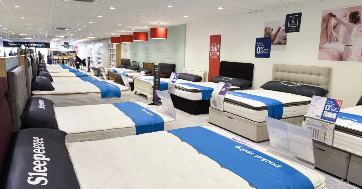 A colour coding system defines each mattress type