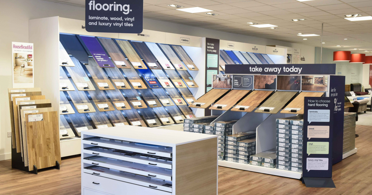 Hard flooring sections are a relatively new introduction to Carpetright's stores, and follow double-digit sales growth