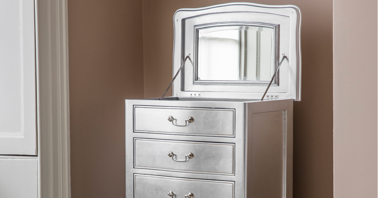 Gallery Direct's popular Chic bedroom collection has been extended and is now available in a striking Silver finish