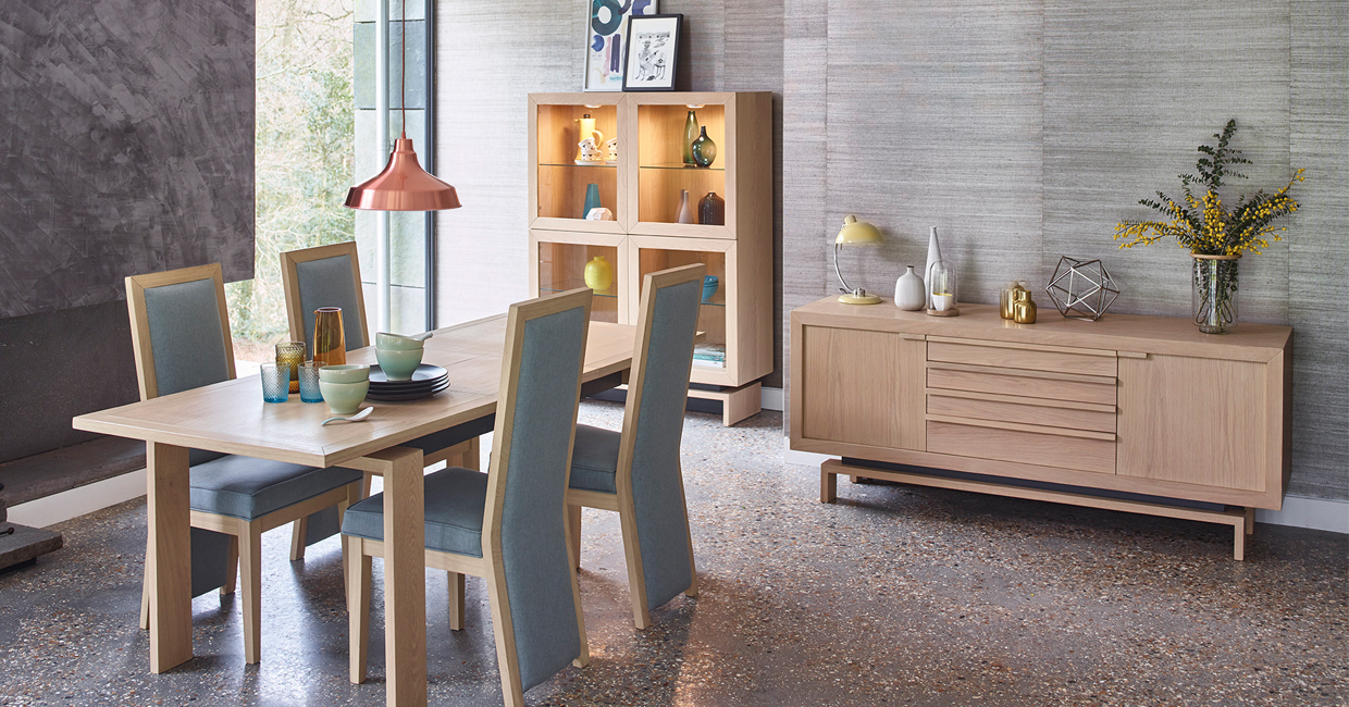 Wood Brosu0027 Oskar Is A Striking Contemporary Collection Of Dining And Living  Furniture That Offers A Mid Century Modern Twist.
