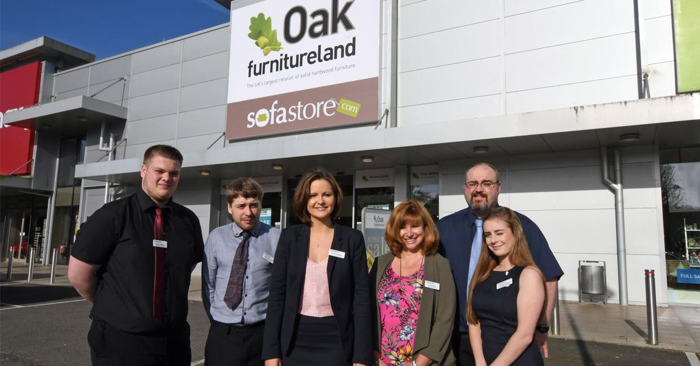 Oak furniture land opens first showroom in haverfordwest