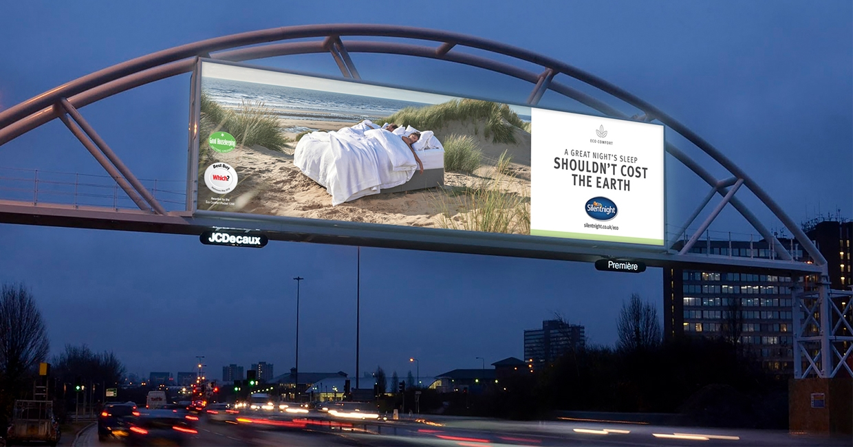 Silentnight Eco Comfort outdoor ad