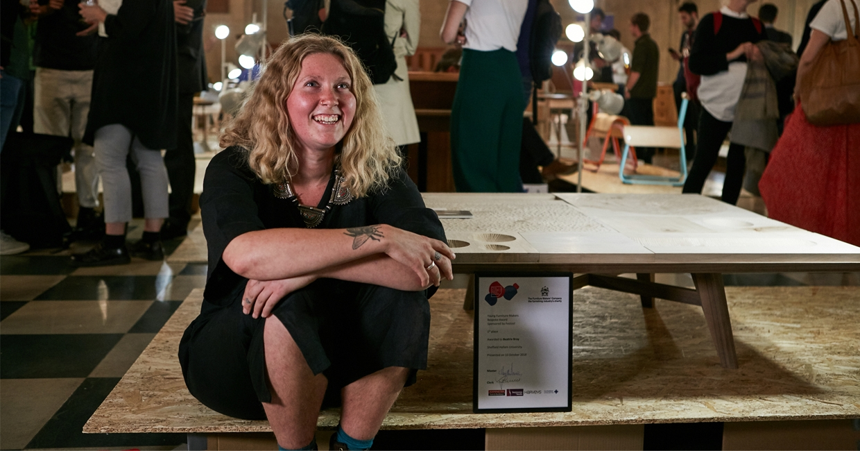 Beatrix Bray, winner of the Young Furniture Makers Bespoke Award