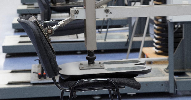 Chair testing at SATRA