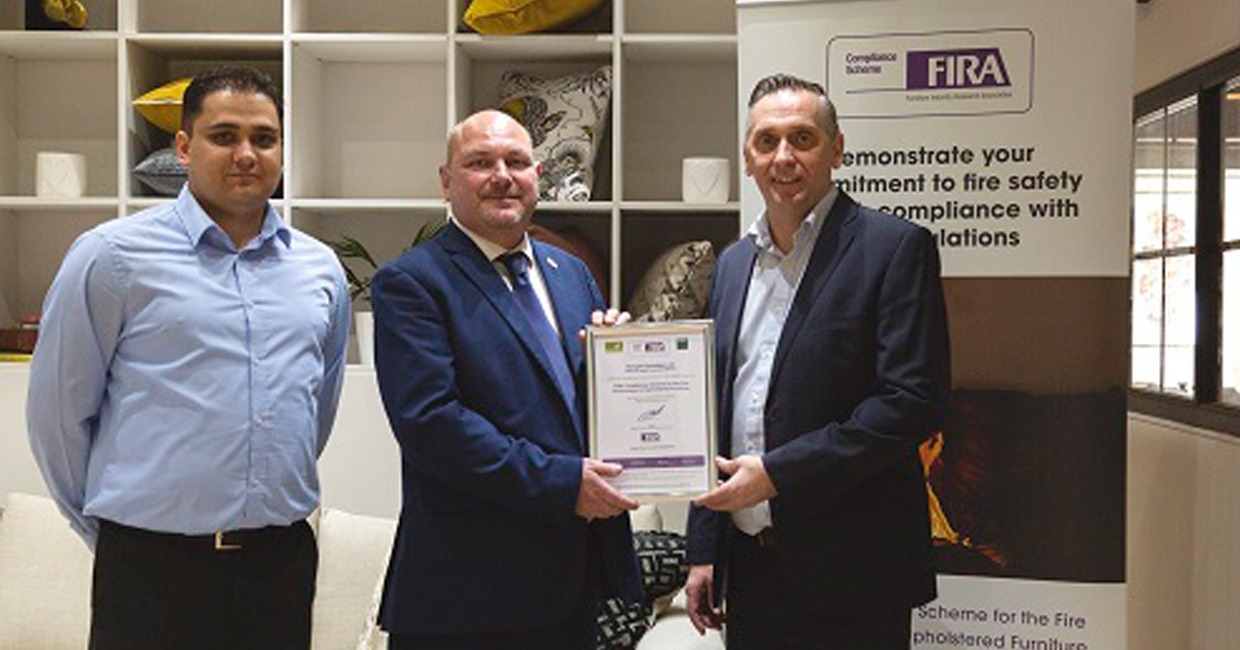 Buoyant Upholstery gains certified company status under fire compliance scheme