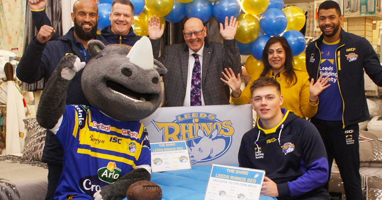 The Shire Bed Company's new Leeds Rhinos bed