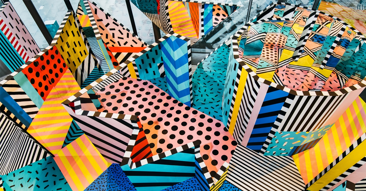Walala X Play by Camille Walala for Now Gallery (photography by Charles Emerson)