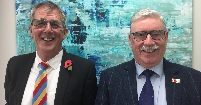 Gary Lasham and Steve Hampton at Belfield's Ilkeston headquarters, November 2018