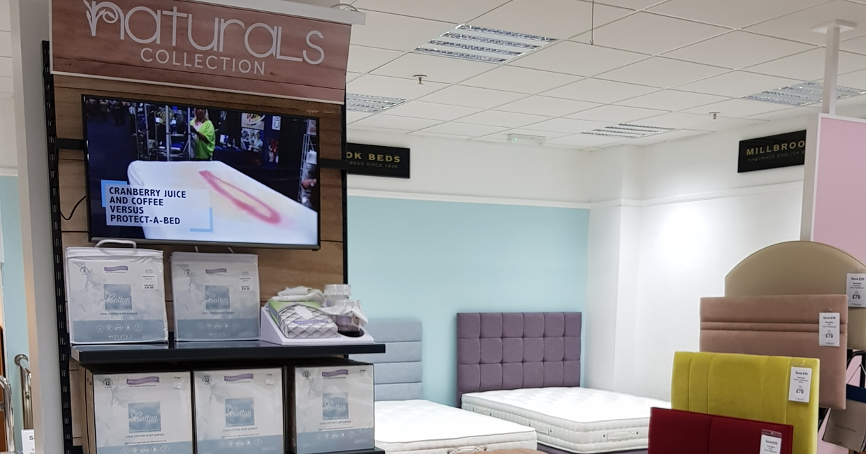 Protect-A-Bed's new TV display bays have been well received