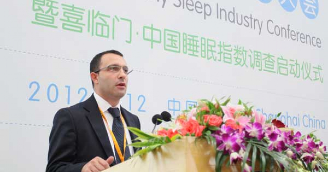 CSIL expert Mauro Spinelli delivered an outlook for the global mattress industry