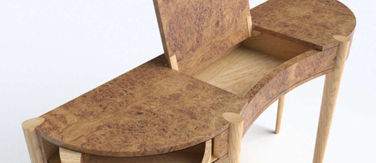 In Design: Burr oak console table, David Wilson