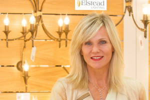 Linda Barker opens new Elstead Lighting showroom