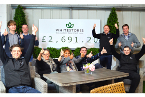 White Stores donates almost £2700 to Greenfingers charity