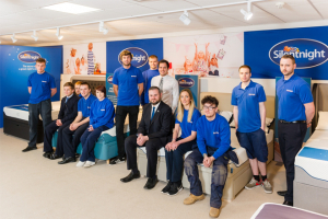 Silentnight welcomes MP for apprentice award presentation