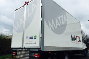 Matza's show van on tour