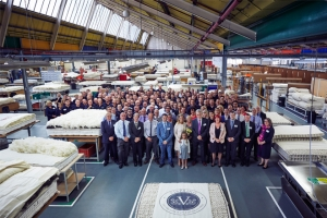 Vispring enjoys royal visit