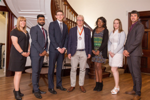 Young professionals complete charity training course