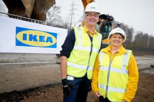 IKEA celebrates the start of Sheffield store construction
