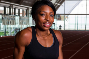 Runner Margaret Adeoye joins Sealy campaign