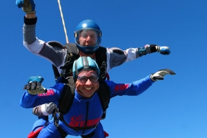 Harrison Spinks take to the sky for charity