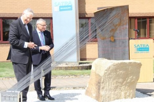 The Duke of Gloucester unveils SATRA centenary sculpture