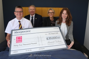 Sleepeezee raises £250,000 for charity over three years