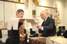 Business Secretary visits college partnership