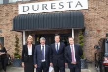 David Cameron visits Duresta Upholstery