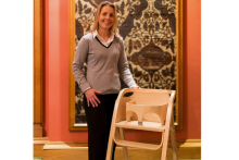 Handmade high chair given to Duchess of Cambridge by The Furniture Makers
