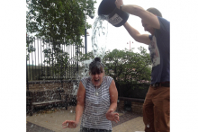 May Design Series' brand director Suzie Ager takes on the ALS Ice Bucket Challenge
